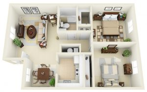 2BHK INTERIORS,  Inclusive of taxes