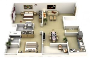 3BHK INTERIORS,  Inclusive of taxes